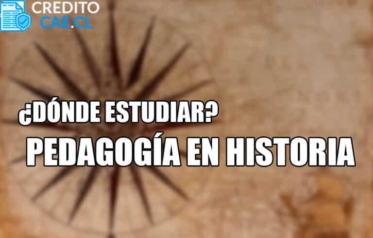 donde estudiar pedagogía en historia